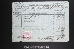 Italy: Marca Da Bollo On Document 1879 - 1861-78 Victor Emmanuel II.