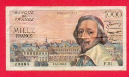 1000 FRANCS RICHELIEU DU 7.1.1954 - 1871-1952 Anciens Francs Circulés Au XXème