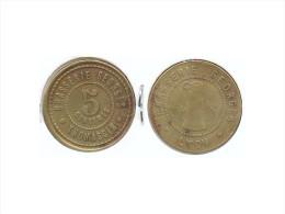 JETON DE NECESSITE DE LYON -  5 CENTIMES BRASSERIE GEORGES THOMASSIN - Monétaires / De Nécessité