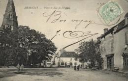 DEMIGNY  PLACE ET RUE DE L EGLISE - Autres Communes