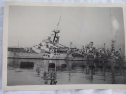 PHOTO  DU SABORDAGE DE LA FLOTTE A TOULON LE 27 NOVEMBRE 1942 - Krieg, Militär