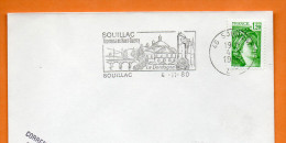 46 SOUILLAC     LA DORDOGNE    4 / 10 / 1980 Lettre Entière N° R 351 - Postmark Collection (Covers)