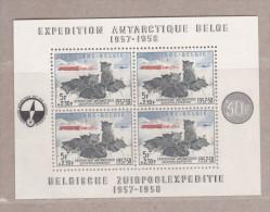 1957 Blok 31** postfris zonder scharnier.Zuidpoolexpeditie.OBP 180 euro.