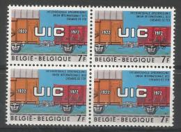 TP DE BELGIQUE  N°  1626 EN BLOC DE 4 SANS CHARNIERE - Unclassified