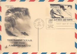 USA POSTAL CARD NIAGARA FALLS Sc UXC13 FDC 1972 - Ganzsachen