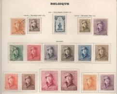 Belgique - YT N° 164 à 178 - Neufs * Et Obl. - MH - Cote: 1217,50 € - 1919-1920 Trench Helmet