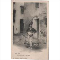 MLGTP1504CPA-LFT1539TCM .Tarjeta Postal De MALAGA.Casas Y Calles.Vendedor De Pescado.EL CENACHERO.Malaga. - Mercaderes