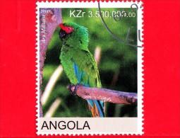 ANGOLA - Nuovo Oblit. - 2000 - Uccelli - Pappagalli - Parrot - Ara Militaris - 3500 - Angola