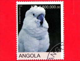 ANGOLA - Nuovo Oblit. - 2000 - Uccelli - Pappagalli - Parrot - Cacatua Galerita - 3500 - Angola
