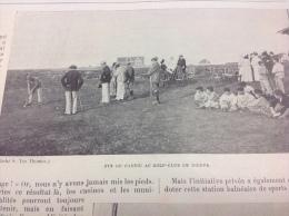 1898 GOLF CLUB DE DIEPPE - CYCLISME MILITAIRE  - ARCACHON - TIR AUX PIGEONS - DRESSAGE EN SULKY - GUIDES DE CHAMONIX