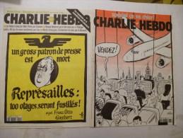 CHARLIE HEBDO Lot de 2 N� 201 et 483 - Couvertures CABU - EDITION DE 1996 et 2001