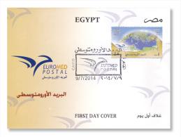 Egypt - 2014 ( EUROMED Postal ) - FDC - 2014