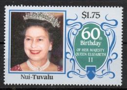 Tuvalu Nui 1986 - Regina Elisabetta II Queen Elizabeth II MNH ** - Tuvalu