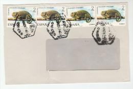 1974 SPAIN  COVER Stamps 4x CHAMELEON Lizard - Reptiles & Amphibians