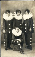 3623 CARNIVAL DISGUISE COSTUMES PIERROT REAL PHOTO POSTAL POSTCARD - Familles Royales