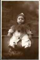 3626 CARNIVAL DISGUISE COSTUMES BABY PIERROT REAL PHOTO POSTAL POSTCARD - Königshäuser