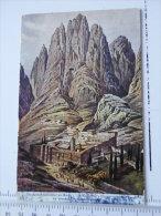Palestine - (Egypt) - Painter   F. Perlberg Egypt Mount Sinai Katharinenkloster Kloster   D127283 - Palestine