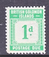 BRITISH SOLOMON ISLANDS   J I  ** - British Solomon Islands (...-1978)