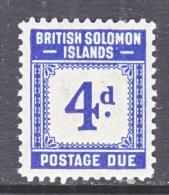 BRITISH SOLOMON ISLANDS   J 4   * - British Solomon Islands (...-1978)
