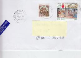 ITALIA  2001 - Lettera - Sassone  2519 -  Giappone - Botticelli - Arte - Pittura - 6. 1946-.. Repubblica
