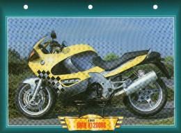1998 BMW K1200RS     /   FICHE TECHNIQUE MOTO FORMAT A4  DÉTAILS CARACTÉRISTIQUES TBE - Motor Bikes