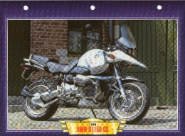 1999 BMW R1150 GS     /   FICHE TECHNIQUE MOTO FORMAT A4  DÉTAILS CARACTÉRISTIQUES TBE - Motor Bikes