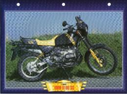1992 BMW R100 GS     /   FICHE TECHNIQUE MOTO FORMAT A4  DÉTAILS CARACTÉRISTIQUES TBE - Motor Bikes