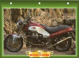 1997 MOTO GUZZI V10 CENTAURO  /   FICHE TECHNIQUE MOTO FORMAT A4  DÉTAILS CARACTÉRISTIQUES TBE - Motor Bikes