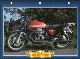 1973 MOTO GUZZI V7 SPORT  /   FICHE TECHNIQUE MOTO FORMAT A4  DÉTAILS CARACTÉRISTIQUES TBE - Motor Bikes