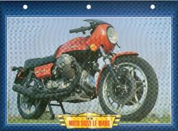1976 MOTO GUZZI LE MANS /   FICHE TECHNIQUE MOTO FORMAT A4  DÉTAILS CARACTÉRISTIQUES TBE - Motor Bikes