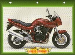 1999 SUZUKI GSF 1200SW BANDIT  /   FICHE TECHNIQUE MOTO FORMAT A4  DÉTAILS CARACTÉRISTIQUES TBE - Motor Bikes
