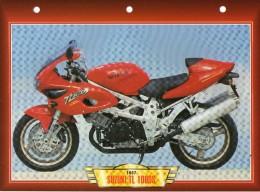 1997 SUZUKI TL 1000S  /   FICHE TECHNIQUE MOTO FORMAT A4  DÉTAILS CARACTÉRISTIQUES TBE - Motor Bikes