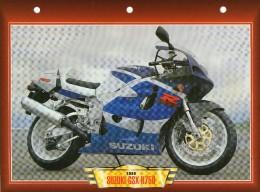 1999 SUZUKI GSX - R750 /   FICHE TECHNIQUE MOTO FORMAT A4  DÉTAILS CARACTÉRISTIQUES TBE - Motor Bikes