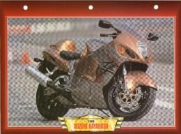 1999 SUZUKI HAYABUSA /   FICHE TECHNIQUE MOTO FORMAT A4  DÉTAILS CARACTÉRISTIQUES TBE - Motor Bikes