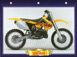 1999 SUZUKI RM250  /   FICHE TECHNIQUE MOTO FORMAT A4  DÉTAILS CARACTÉRISTIQUES TBE - Motor Bikes
