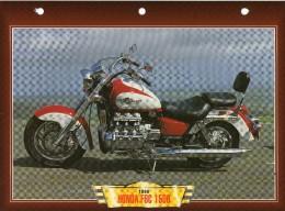 1996 HONDA F6C 1500   /   FICHE TECHNIQUE MOTO FORMAT A4  DÉTAILS CARACTÉRISTIQUES TBE - Motor Bikes
