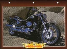 1997 YAMAHA XVS 650 DRAG STAR   /   FICHE TECHNIQUE MOTO FORMAT A4  DÉTAILS CARACTÉRISTIQUES TBE - Motor Bikes