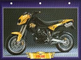 1997 KTM DUKE /   FICHE TECHNIQUE MOTO FORMAT A4  DÉTAILS CARACTÉRISTIQUES TBE - Motor Bikes