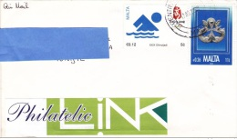 R] Enveloppes Cover Malte Malta Olympics Jeux Olympiques Pékin 2008 Beijing Croix Cross - Malte