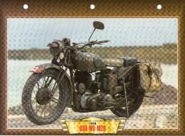 1939 BSA WD M20 /   FICHE TECHNIQUE MOTO FORMAT A4  DÉTAILS CARACTÉRISTIQUES TBE - Motor Bikes