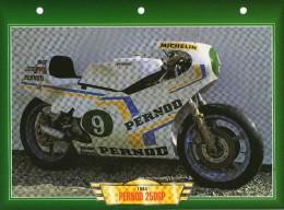 1984 PERNOD  250 GP /  FICHE TECHNIQUE MOTO FORMAT A4  DÉTAILS CARACTÉRISTIQUES TBE - Motor Bikes