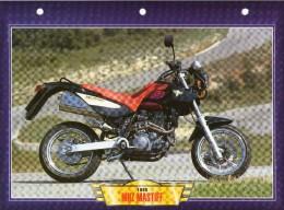 1998 MUZ MASTIFF  /  FICHE TECHNIQUE MOTO FORMAT A4  DÉTAILS CARACTÉRISTIQUES TBE - Motor Bikes