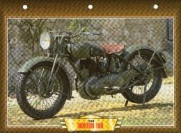 1938 NORTON 16H  /  FICHE TECHNIQUE MOTO FORMAT A4  DÉTAILS CARACTÉRISTIQUES TBE - Motor Bikes