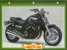 1999 YAMAHA 1200 V MAX  /  FICHE TECHNIQUE MOTO FORMAT A4  DÉTAILS CARACTÉRISTIQUES TBE - Motor Bikes