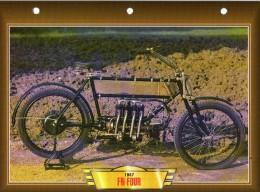 1907 FN FOUR   / FICHE TECHNIQUE MOTO FORMAT A4  DÉTAILS CARACTÉRISTIQUES TBE - Motos