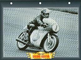 SPORT COURSE 1963 1977 GIACOMO AGOSTINI / FICHE TECHNIQUE MOTO FORMAT A4  DÉTAILS CARACTÉRISTIQUES TBE - Motor Bikes