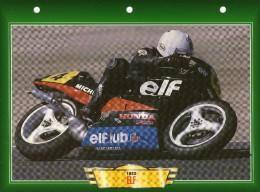 SPORT COURSE 1983 MOTO ELF / FICHE TECHNIQUE MOTO FORMAT A4  DÉTAILS CARACTÉRISTIQUES TBE - Motor Bikes
