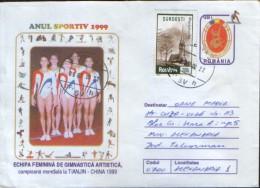 Romania - Stationery Cover 1999 Used - Women´s Artistic Gymnastics Team, World Champion In Tianjin China - Gymnastics