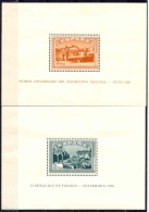 ES836-L2337THC.España. Spain  Espagne.HOJITAS BLOQUE DEL ALZAMIENTO NACIONAL.1937.( Ed 836/7**) Sin Charnela.LUJO- - Hojas Conmemorativas