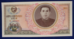 Corea Del Nord North Korea 100 Won 1978 #B1351 - Corea Del Nord